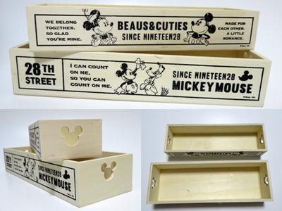 ウッドボックス シングル/ミッキーマウス